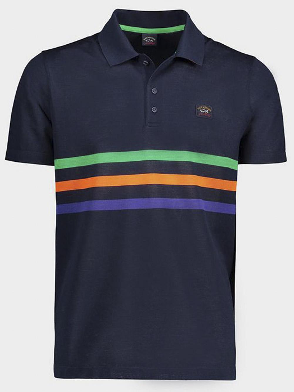 PAUL & SHARK Μπλούζα Polo E20P1274-305 ΜΠΛΕ-ΚΟΚΚΙΝΟ
