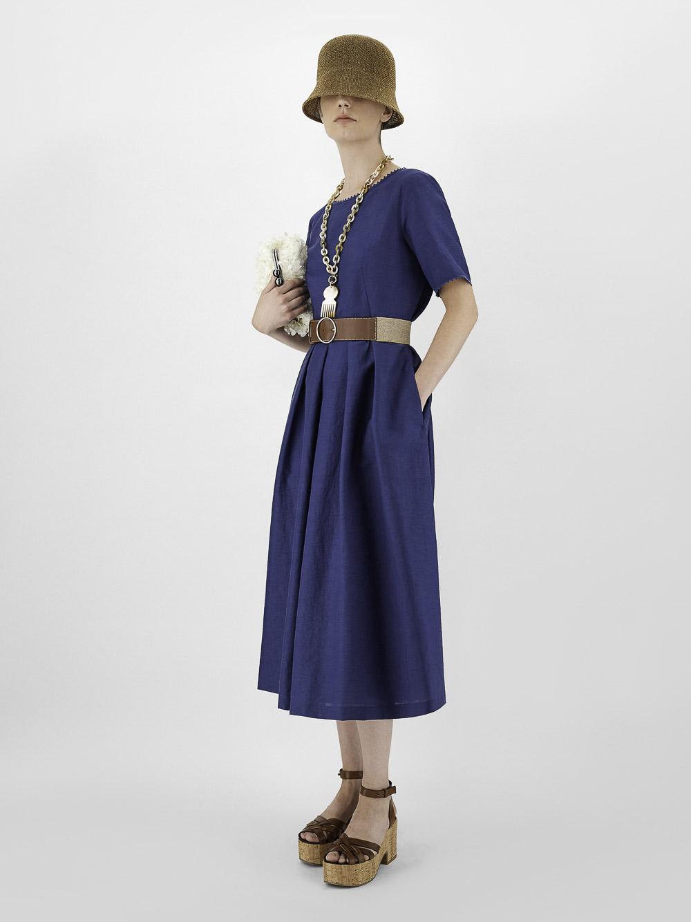 Weekend - MaxMara Φόρεμα EDERE 52211511 BLUE