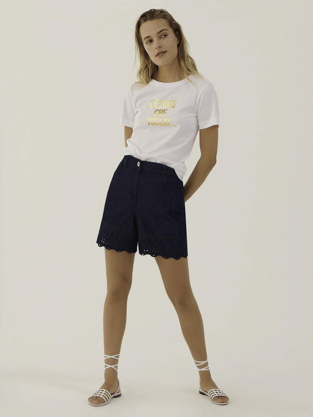 Marella Πλεκτή μπλούζα GOMMA 39710612 OPTICAL WHITE