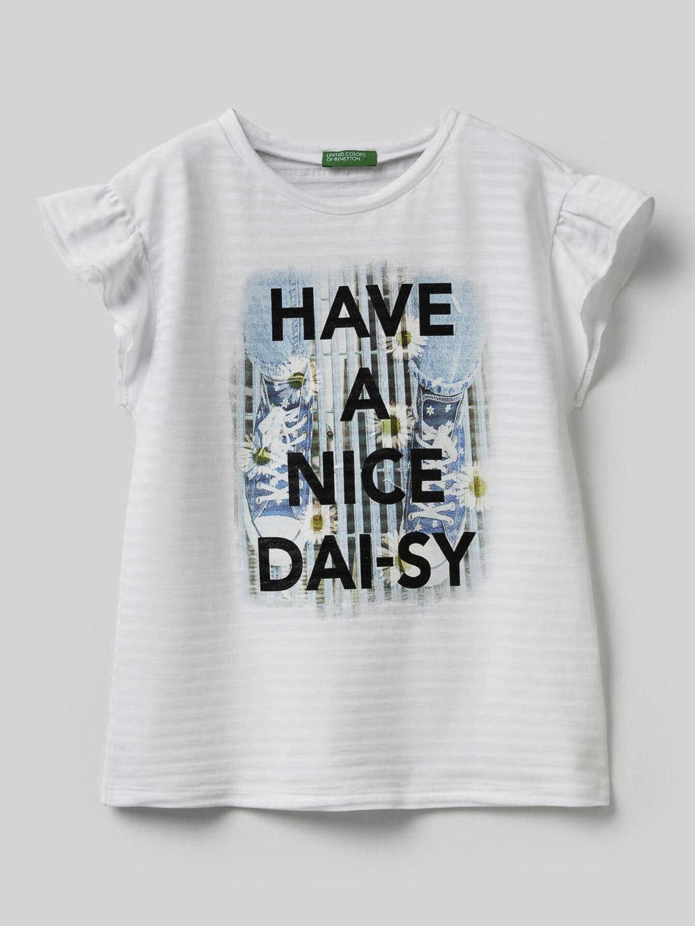 012 BENETTON Μπλούζα t-shirt 3F2HC14P2 20P101