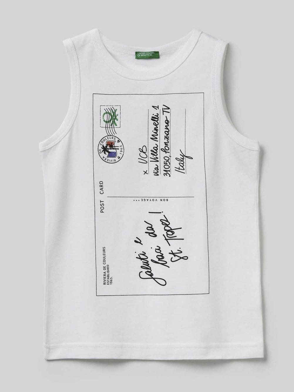 012 BENETTON Μπλούζα t-shirt 3096C8251 20P101