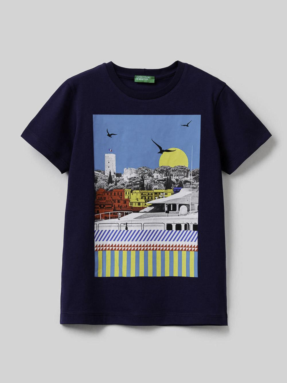 012 BENETTON Μπλούζα t-shirt 3096C14OU 20P252