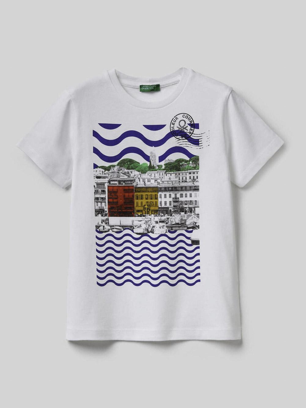 012 BENETTON Μπλούζα t-shirt 3096C14OU 20P901