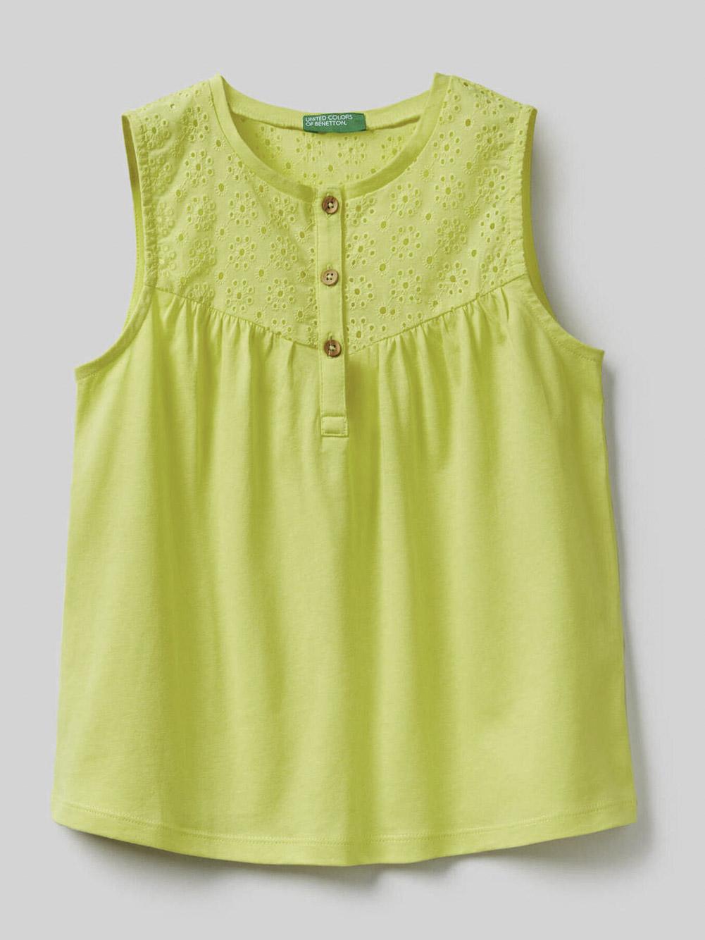 012 BENETTON Μπλούζα t-shirt 3ZN3C8253 20P05G