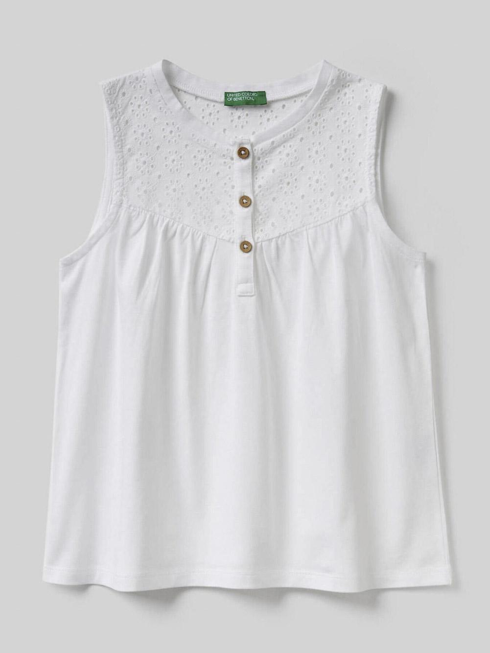 012 BENETTON Μπλούζα t-shirt 3ZN3C8253 20P101