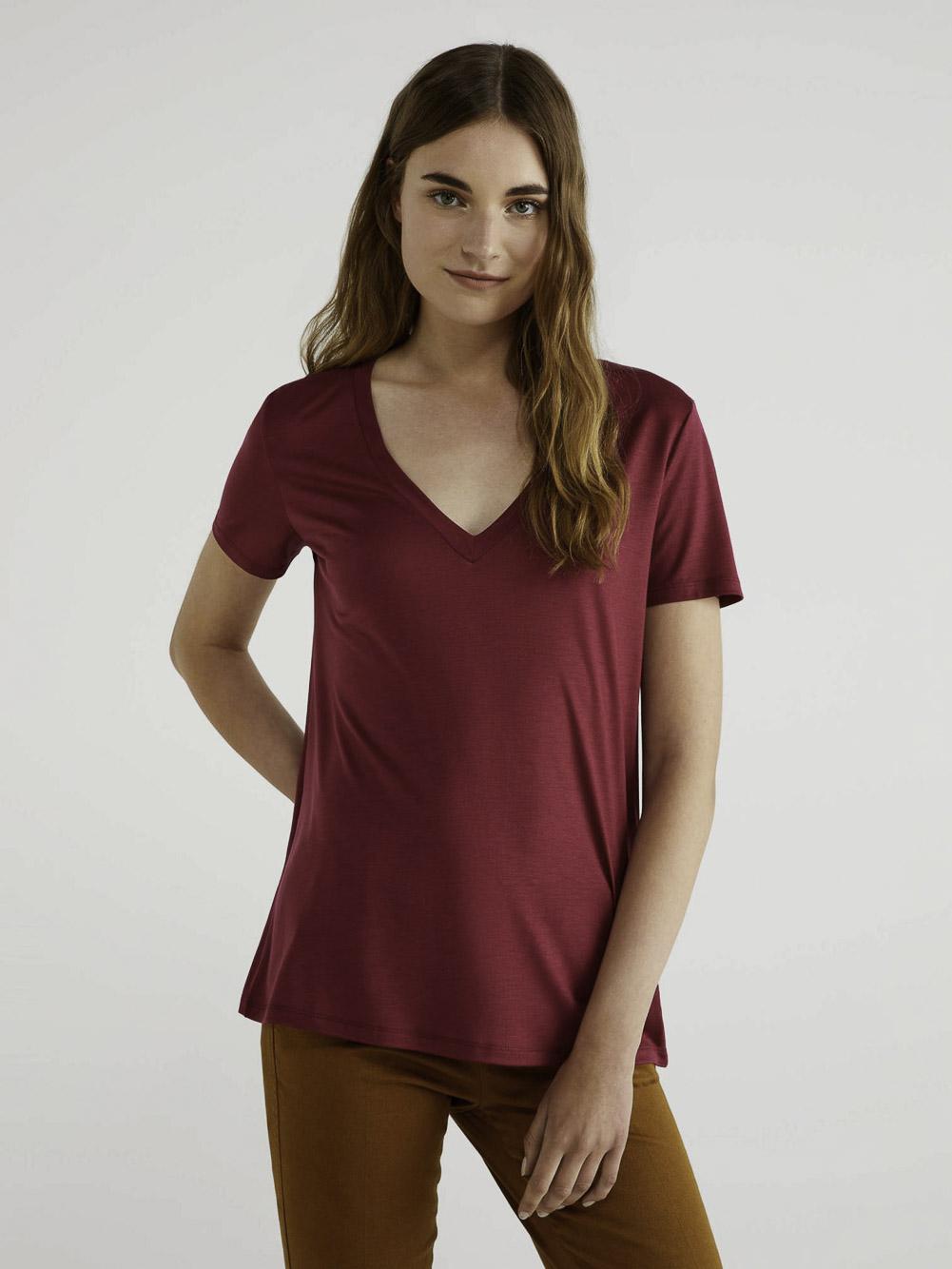 BENETTON Τ-shirt με V λαίμοκοψη 3AERE4249 20A08M