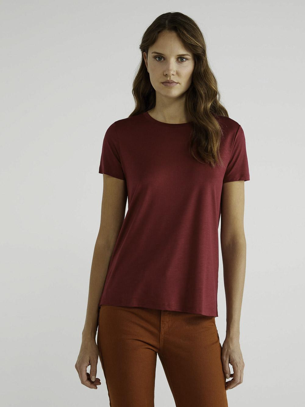 BENETTON T-shirt με λαιμόκοψη 3AERE17J7 20A08M