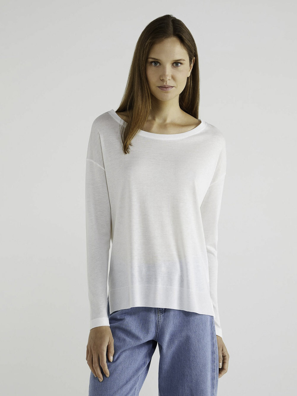 BENETTON T-shirt μακρυμάνικο από lyocell 3ACRE11E6 20A074