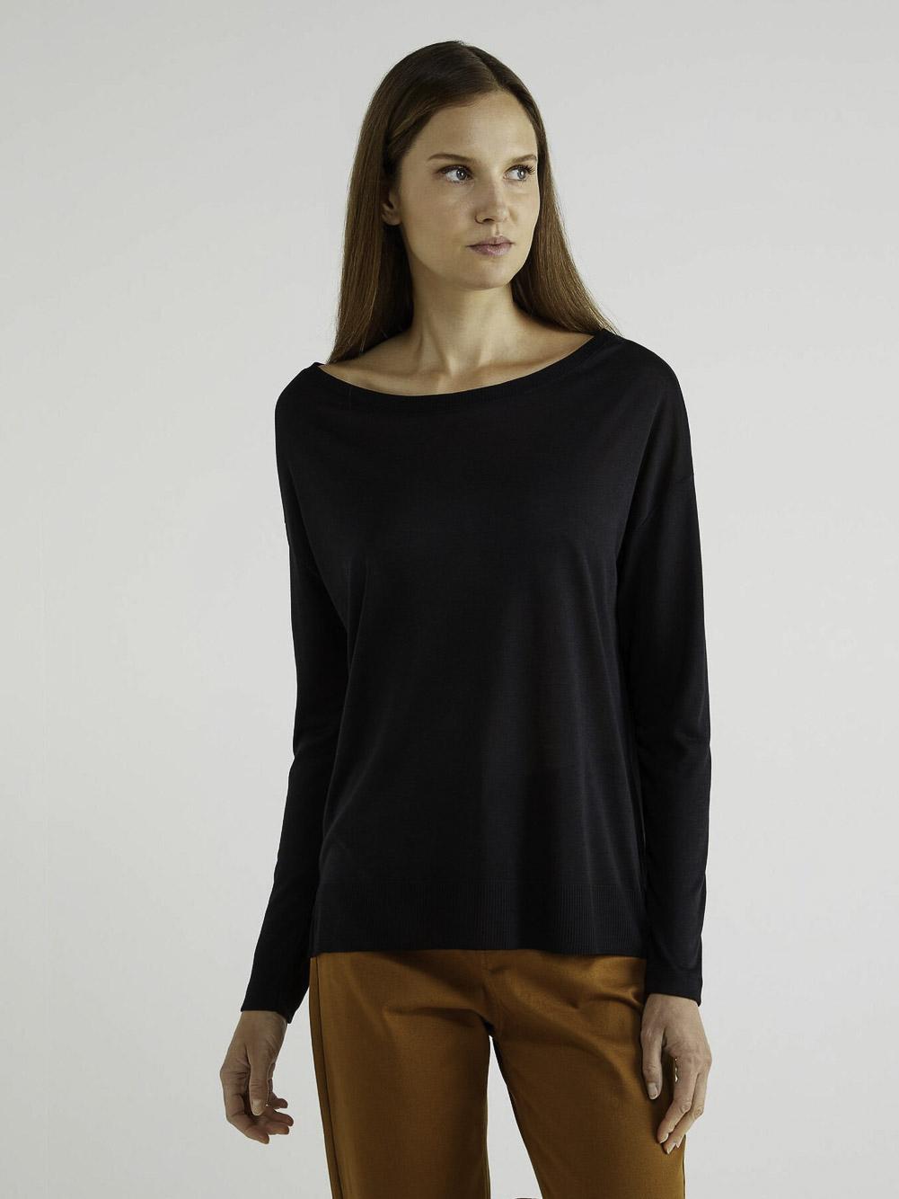 BENETTON T-shirt μακρυμάνικο από lyocell 3ACRE11E6 20A100