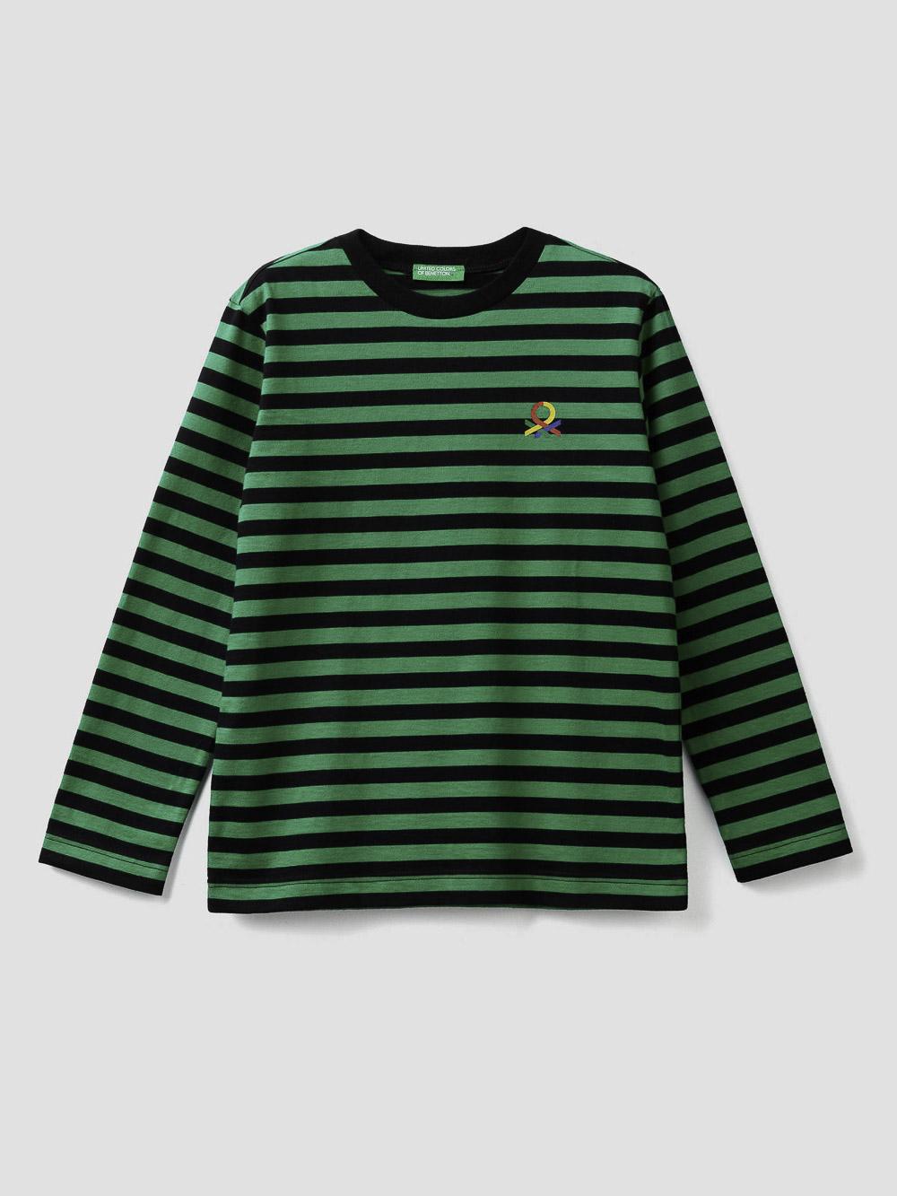 012 BENETTON T-shirt ριγέ 3AVEC14QM 20A903
