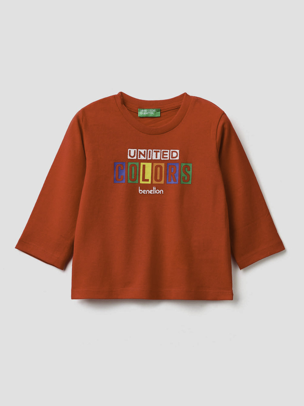 012 BENETTON T-shirt με λογότυπο 3ATNC14W1 20A015