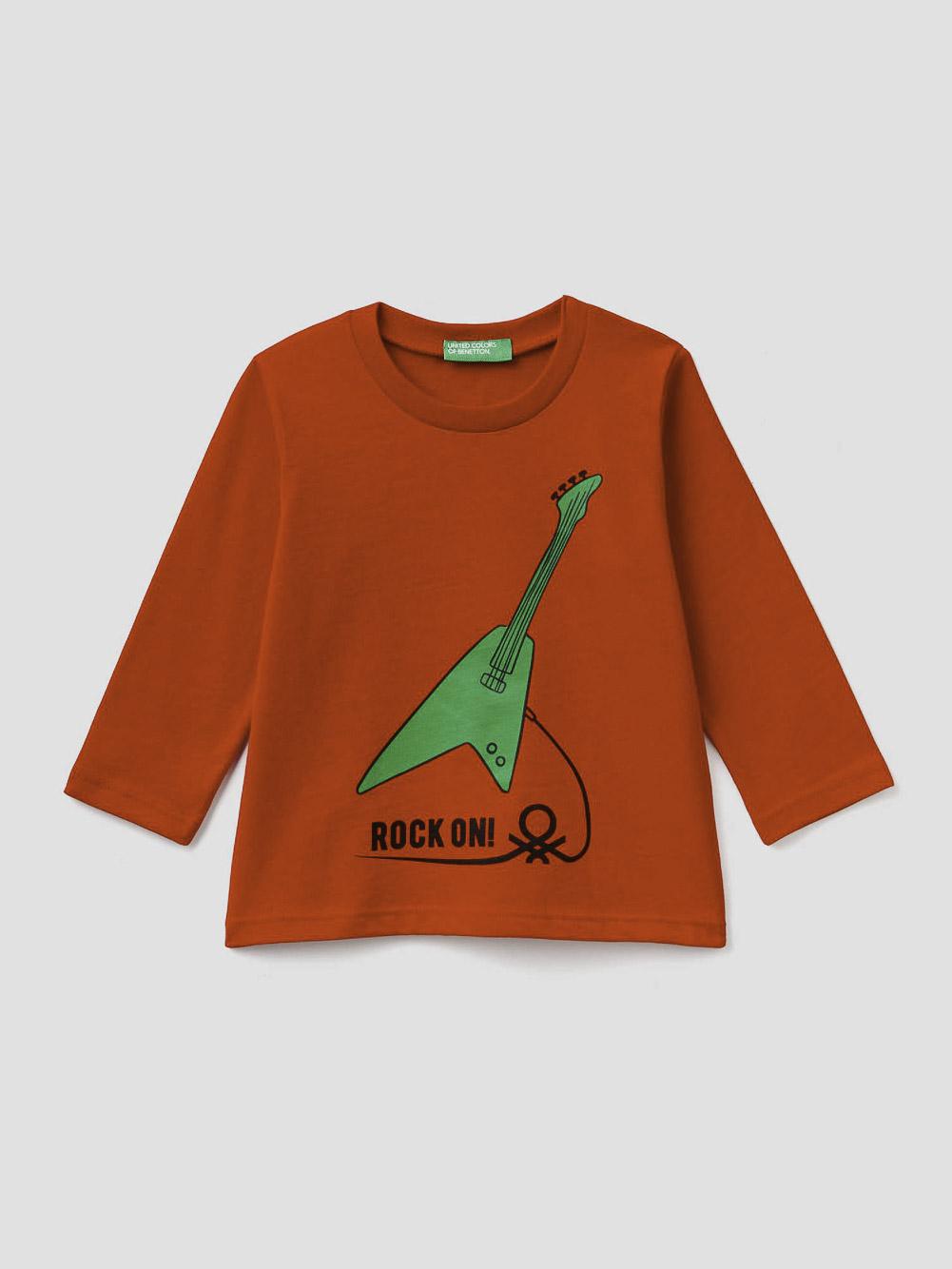 012 BENETTON T-shirt με τύπωμα 3ATNC14W2 20A015