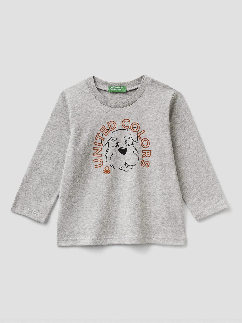 012 BENETTON T-shirt με τύπωμα 3ATNC14W2 20A501