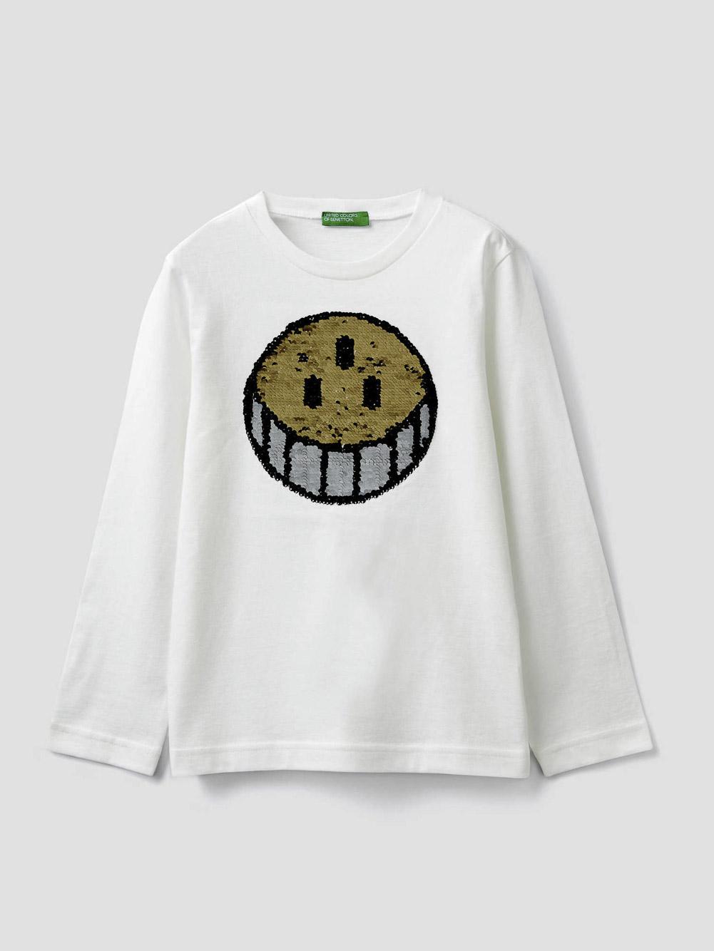 012 BENETTON T-shirt με παγιέτες δυο όψεων 3096C14QL 20A074
