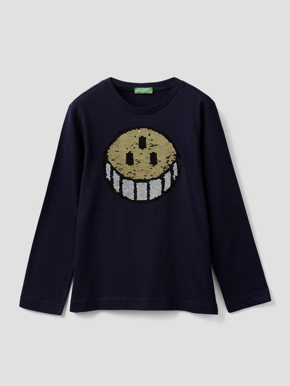 012 BENETTON T-shirt με παγιέτες δυο όψεων 3096C14QL 20A252