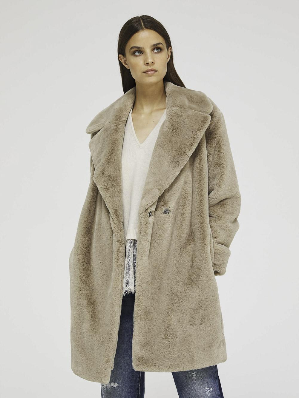 SISLEY Γούνινο παλτό 2VGB5K3S6 20A0C4