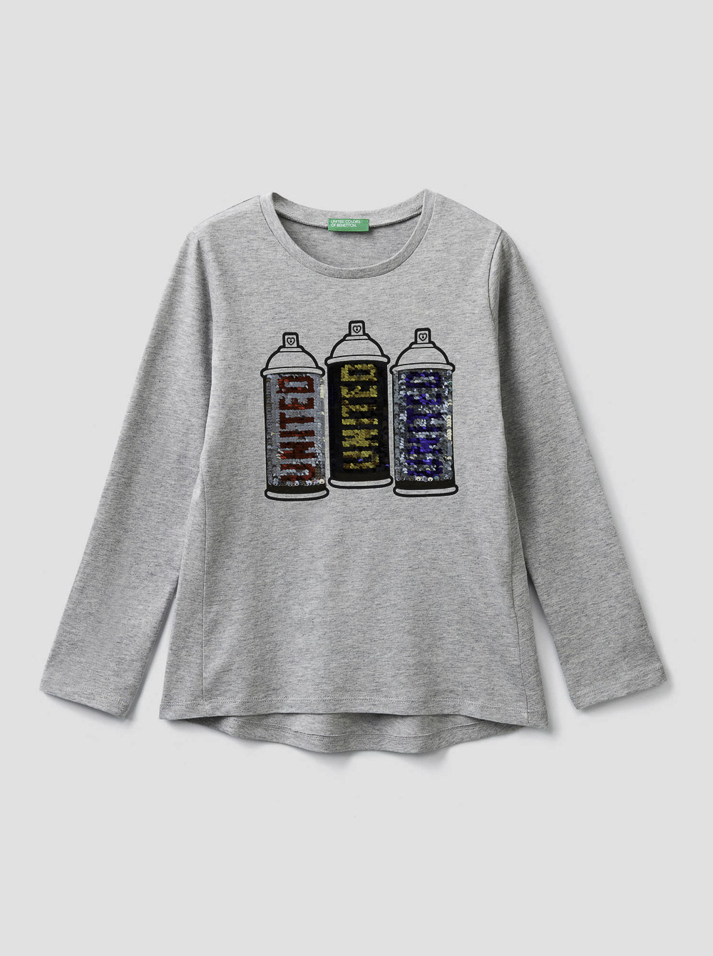 012 BENETTON T-shirt με παγέτες δύο όψεων 3096C14Q7 20A501