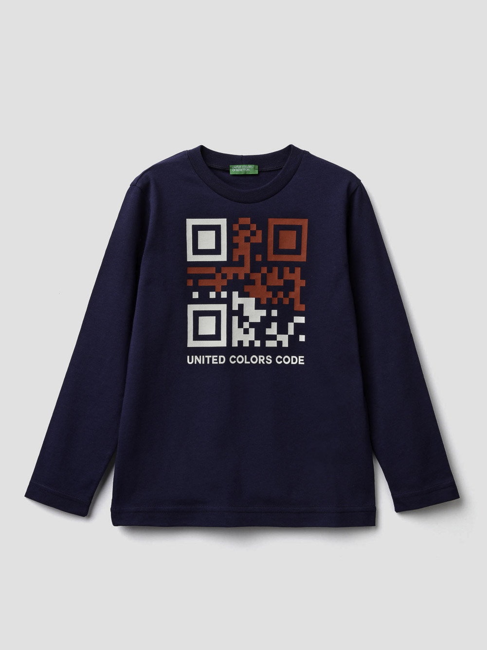 012 BENETTON T-shirt με λαιμόκοψη και τύπωμα 3096C14QH 20A252