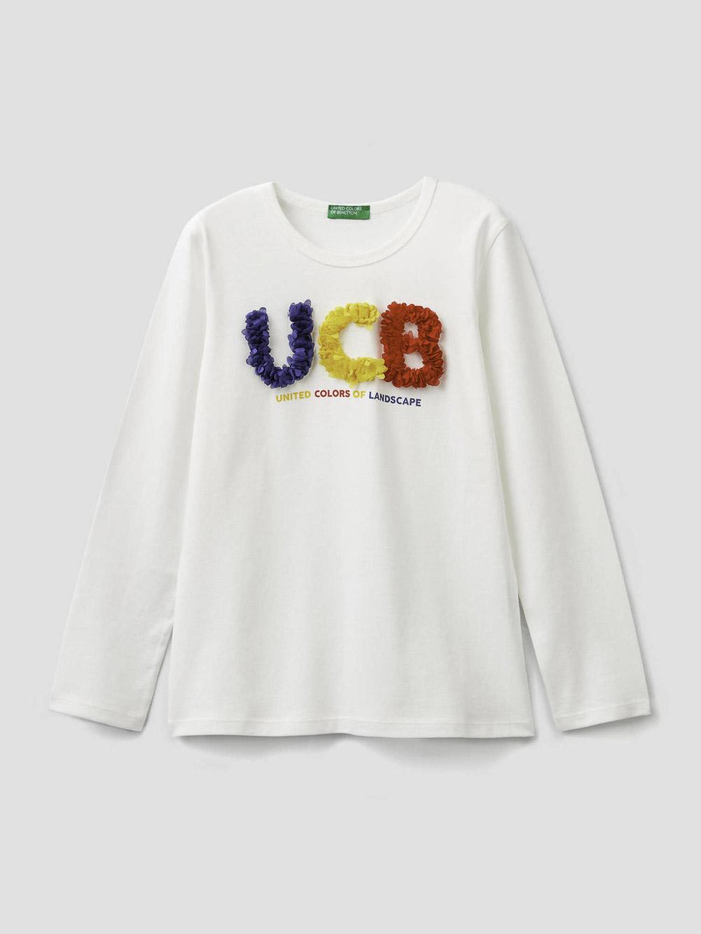 012 BENETTON T-shirt με τύπωμα 3096C14QR 20A074