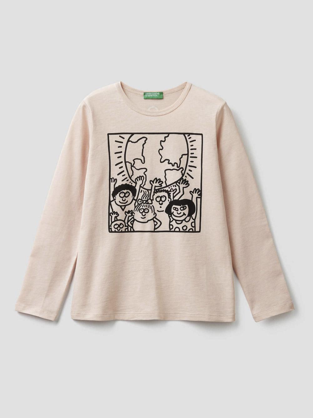 012 BENETTON T-shirt μακρυμάνικο Keit Haring 3096C14TS 20A04U