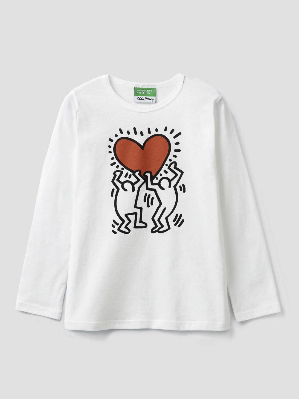 012 BENETTON T-shirt μακρυμάνικο Keit Haring 3096C14TS 20A074