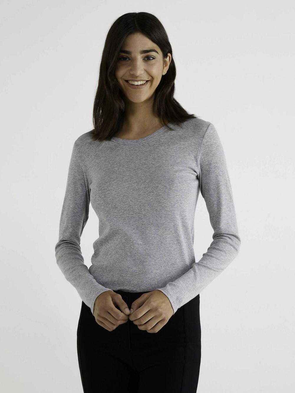 BENETTON T-shirt μακρυμάνικο 3GA2E16F9 20A501