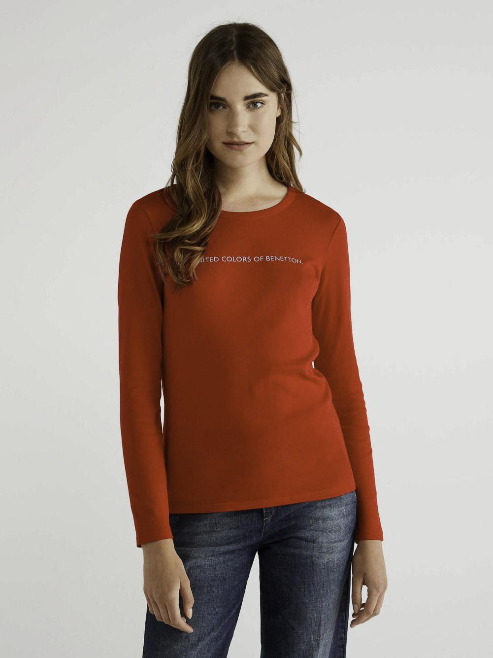 BENETTON T-shirt μακρυμάνικο με λογότυπο 3GA2E16G0 20A015