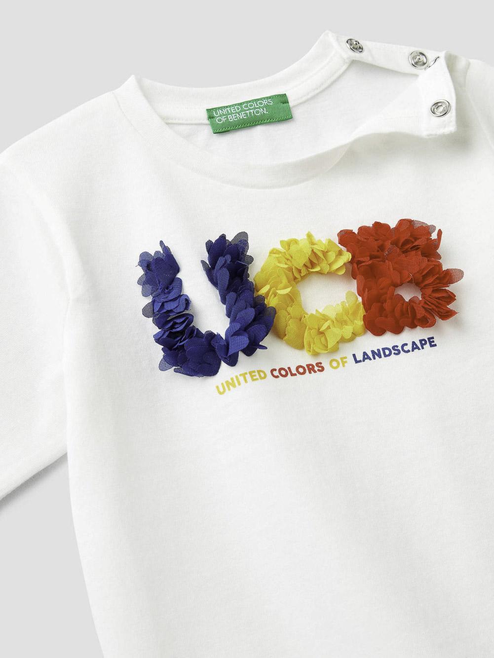 012 BENETTON T-shirt με τύπωμα 3I1XC14U6 20A074