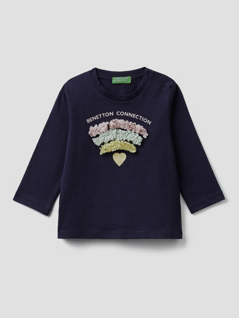 012 BENETTON T-shirt με τύπωμα 3I1XC14U6 20A252