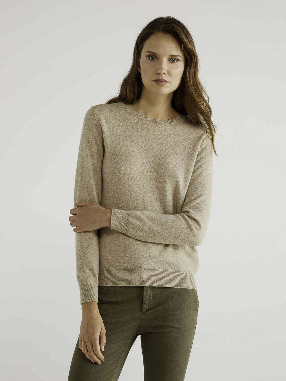 BENETTON Μπλούζα με λαιμόκοψη 100% παρθένο μαλλί 1002D1K01 20A562