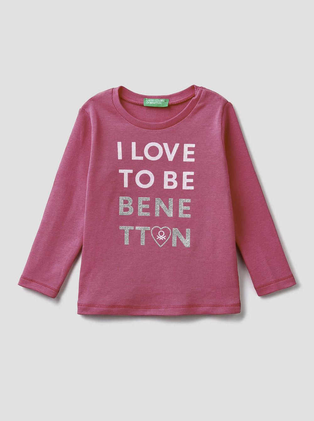 012 BENETTON T-shirt μακρυμάνικο με λογότυπο 3I9WC14QX 20A02A