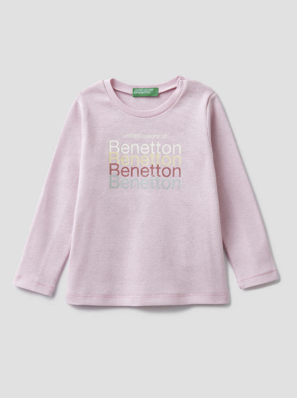 012 BENETTON T-shirt μακρυμάνικο με λογότυπο 3I9WC14QX 20A04A