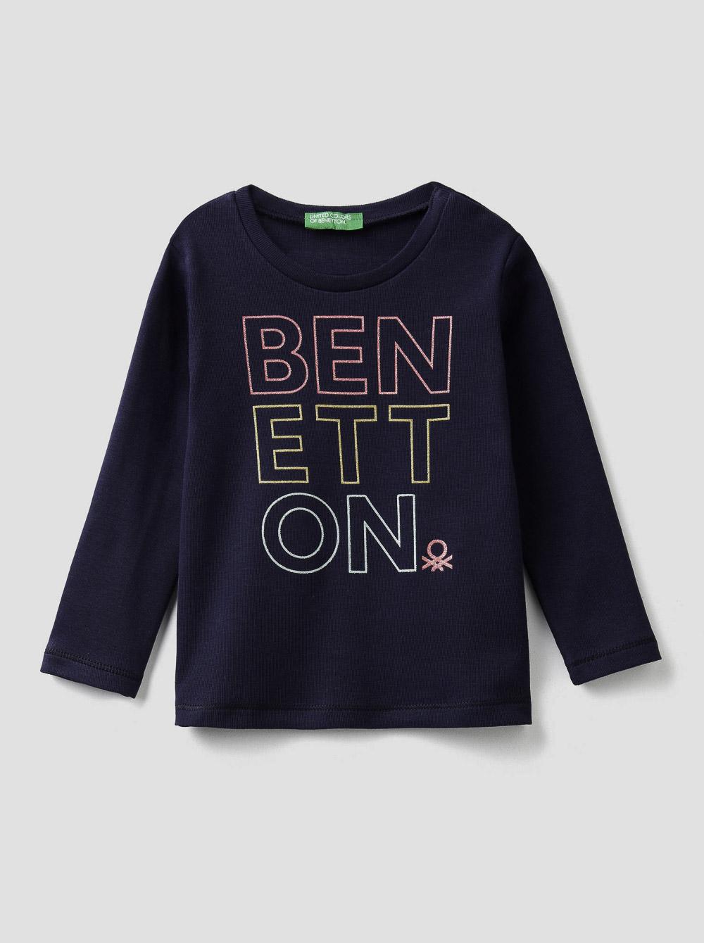 012 BENETTON T-shirt μακρυμάνικο με λογότυπο 3I9WC14QX 20A252