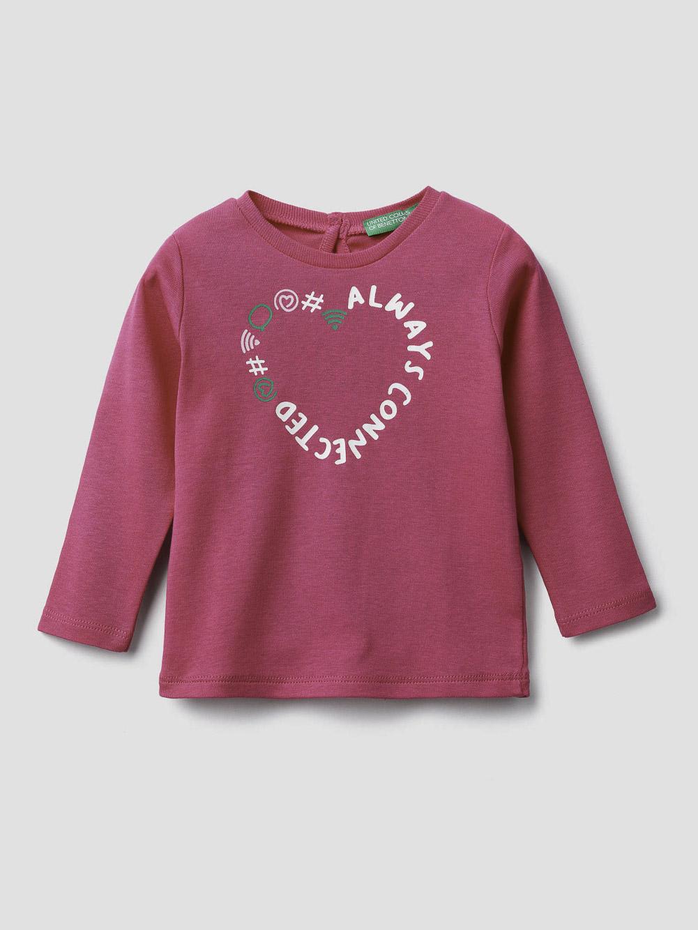 012 BENETTON T-shirt με τύπωμα 3I9WC14S3 20A02A