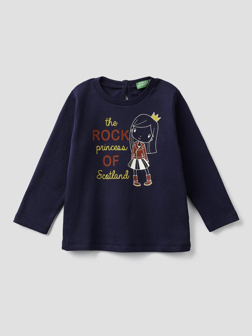 012 BENETTON T-shirt με τύπωμα 3I9WC14S3 20A252