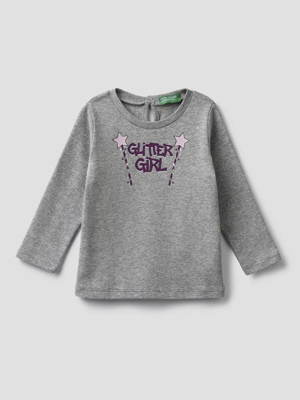 012 BENETTON T-shirt με τύπωμα 3I9WC14S3 20A501