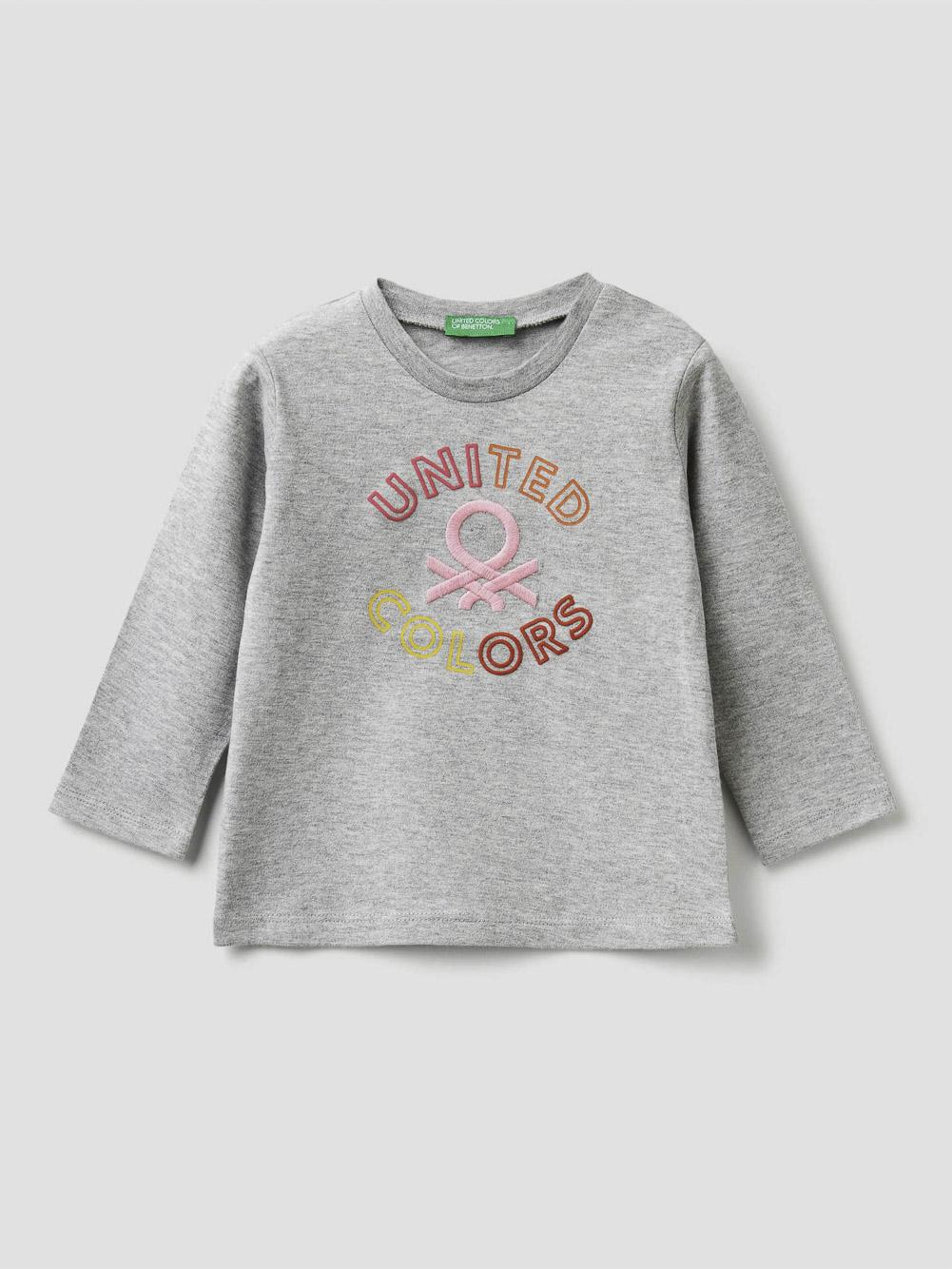 012 BENETTON T-shirt βαμβακερό 3EG9C14VY 20A501