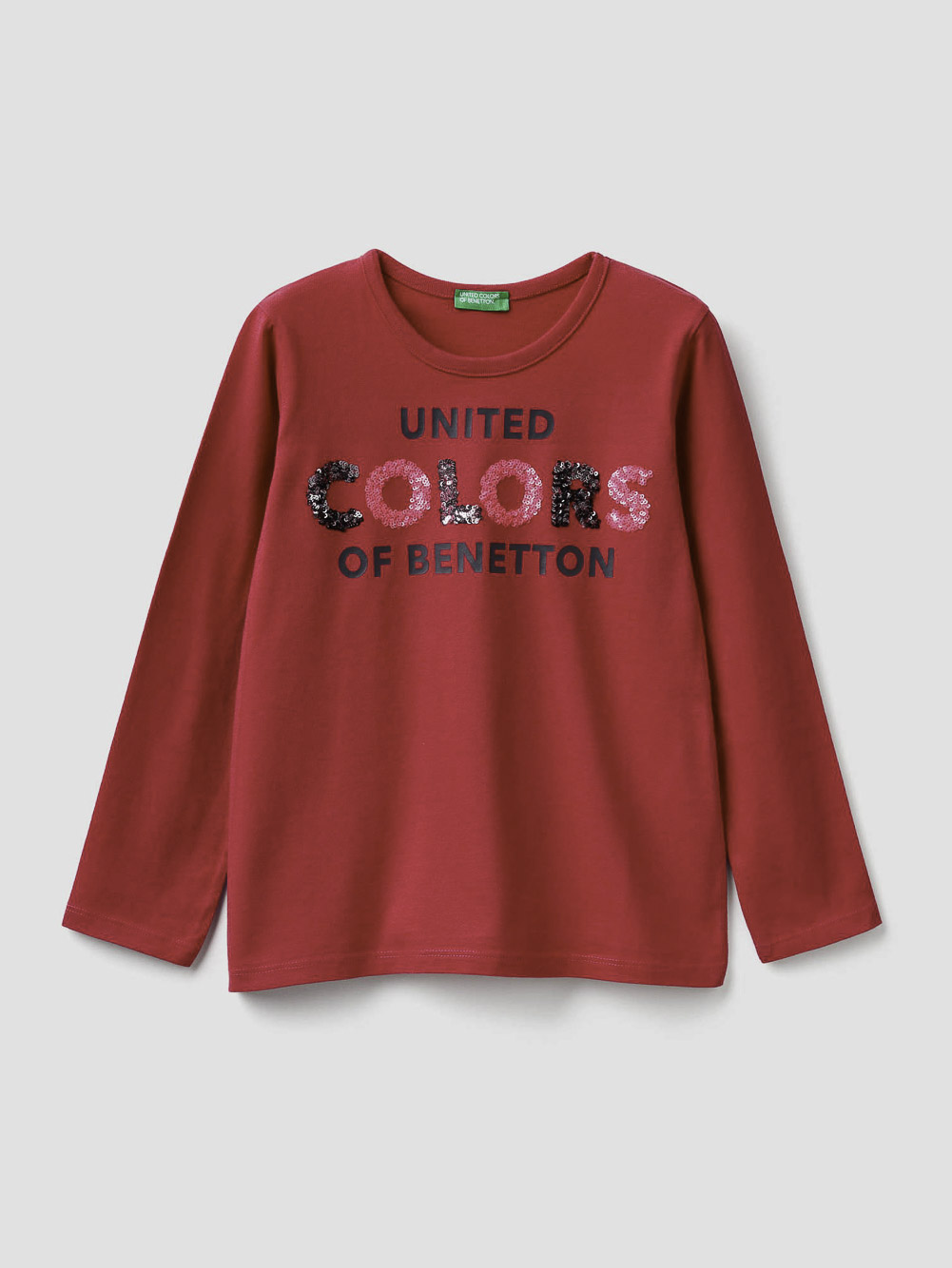 012 BENETTON T-shirt με τύπωμα και παγιέτες 3EG9C14XV 20A143