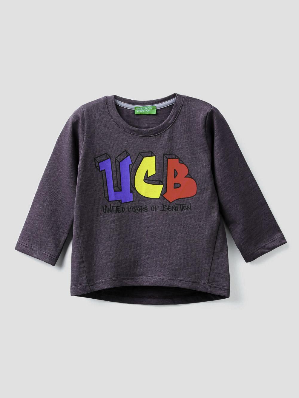 012 BENETTON T-shirt από οργανικό βαμβάκι 3F42C14SI 20A041