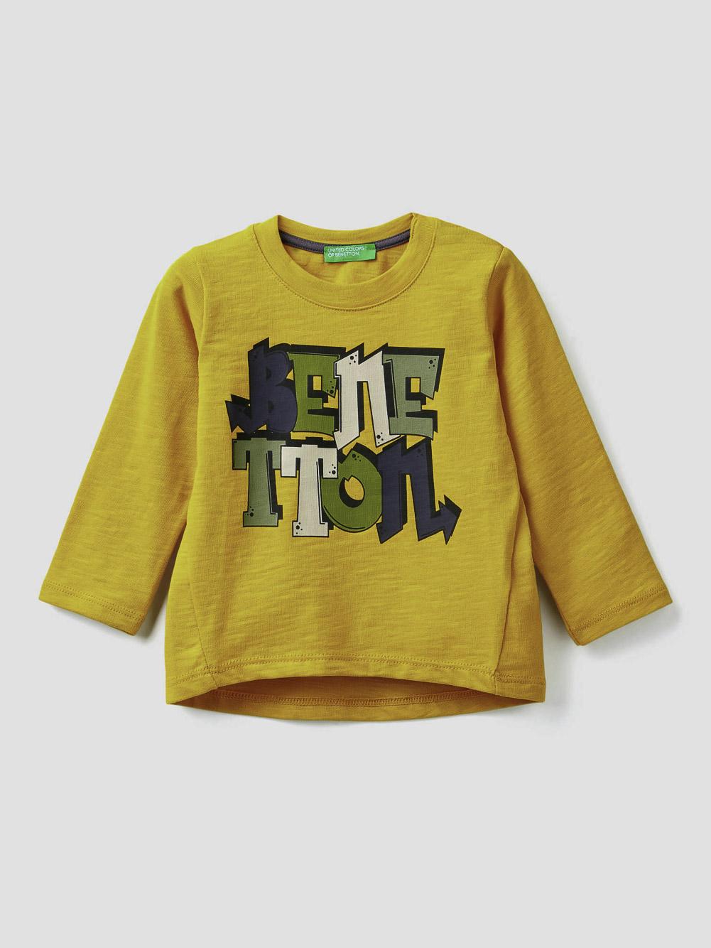 012 BENETTON T-shirt από οργανικό βαμβάκι 3F42C14SI 20A29U