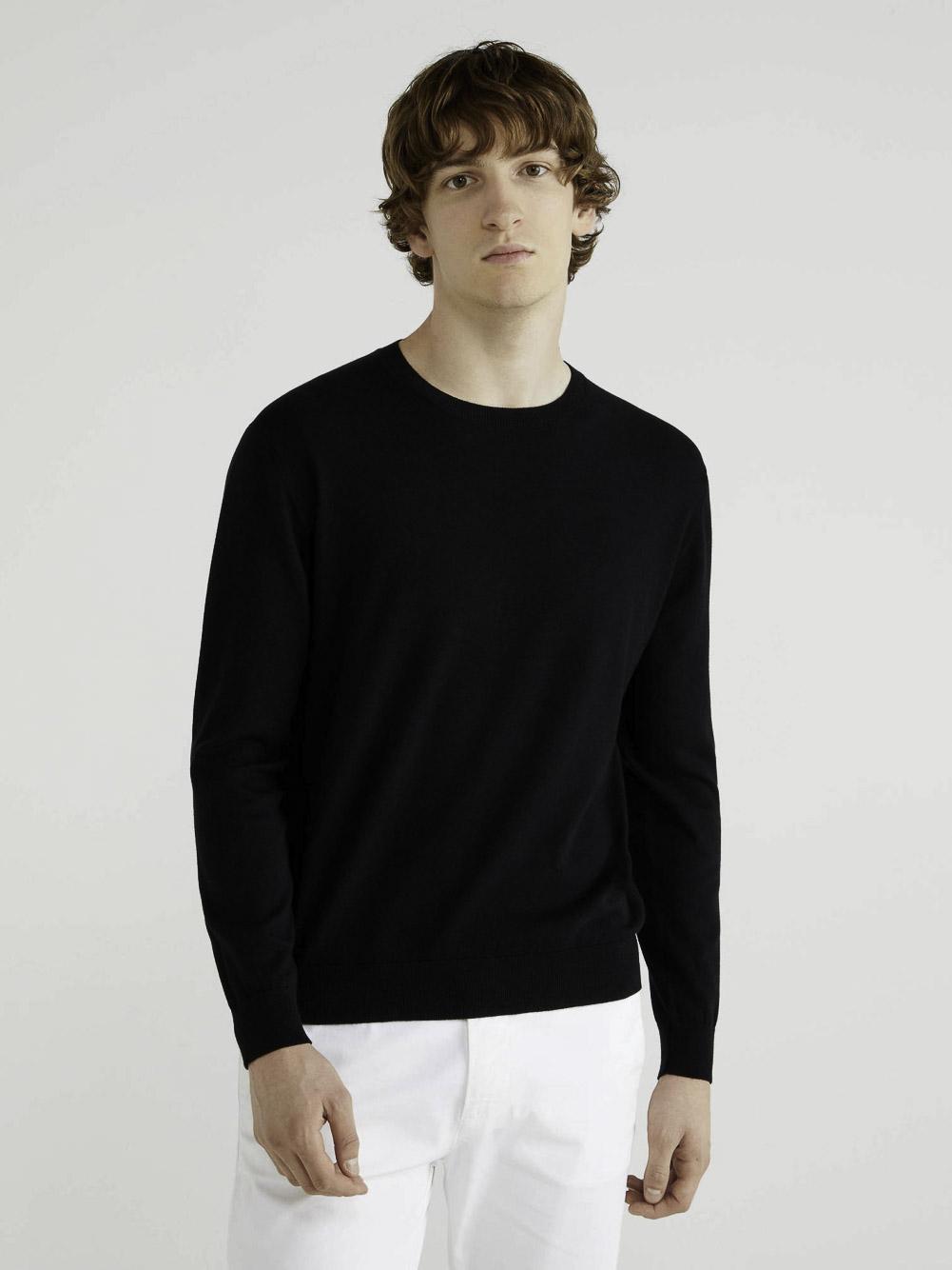 BENETTON Μπλούζα με λαιμόκοψη 10CVU1N60 20A100
