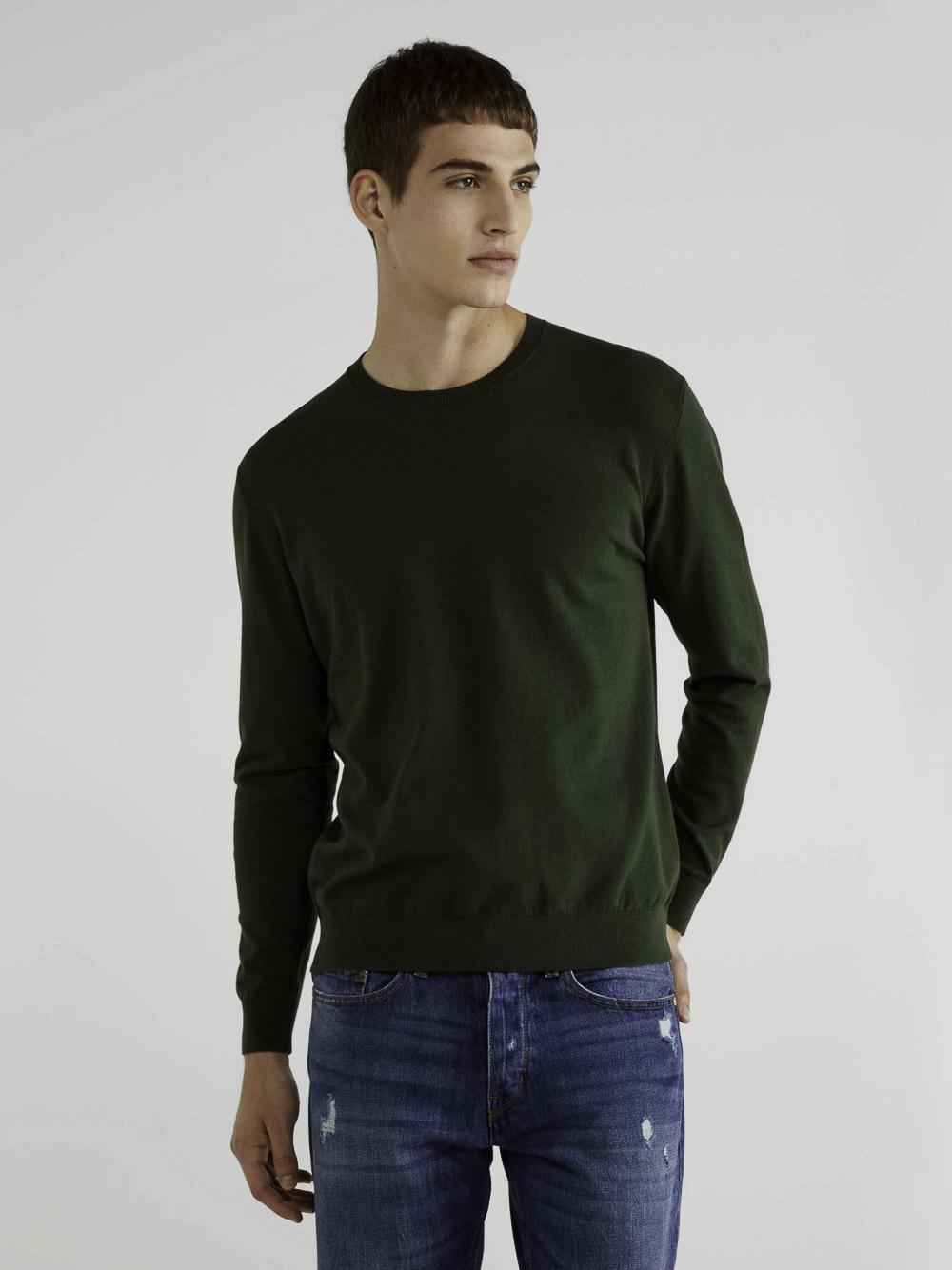 BENETTON Μπλούζα με λαιμόκοψη 10CVU1N60 20A22M