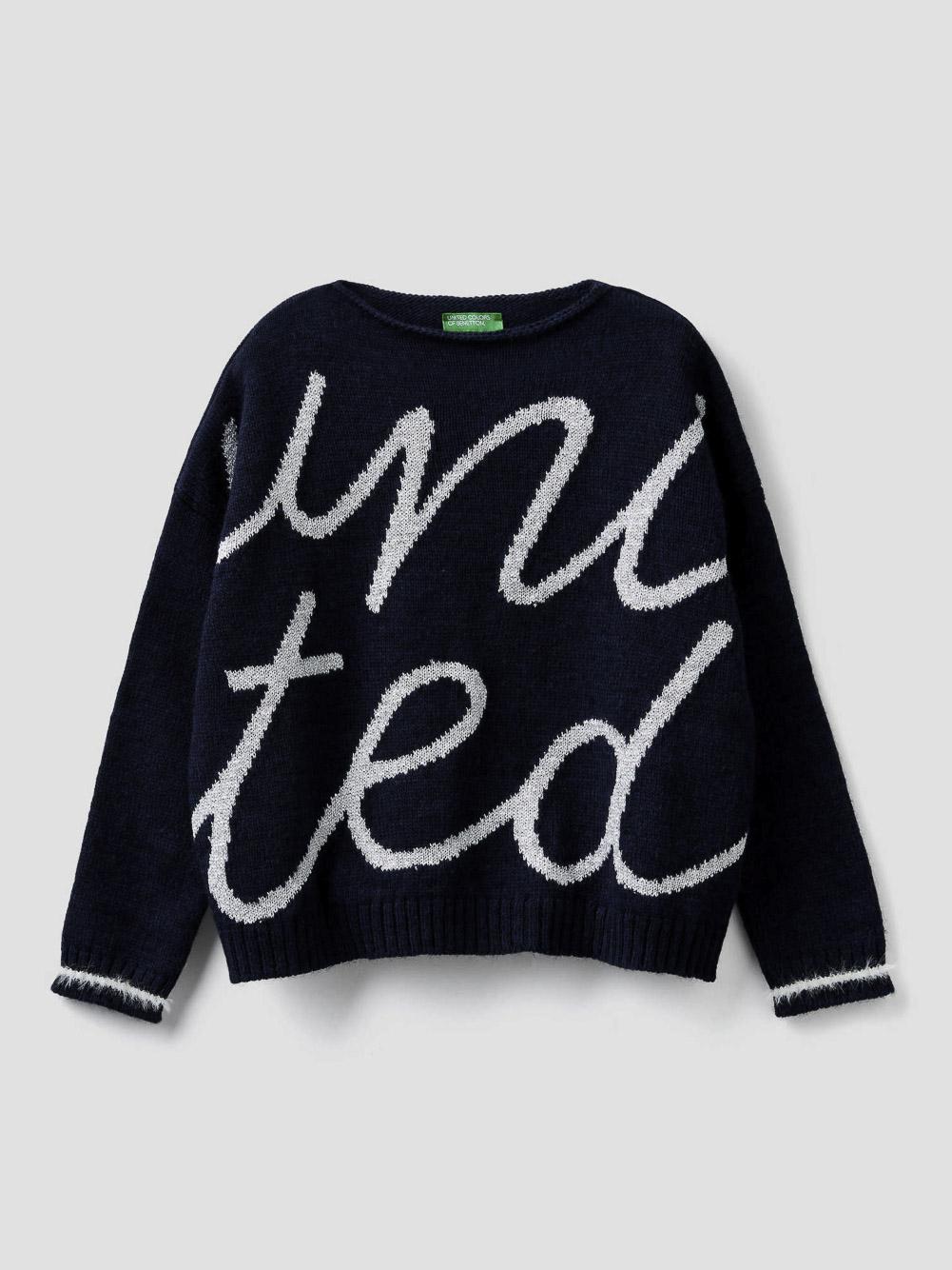 012 BENETTON Μπλούζα με μάξι λογότυπο 1176Q1928 20A901