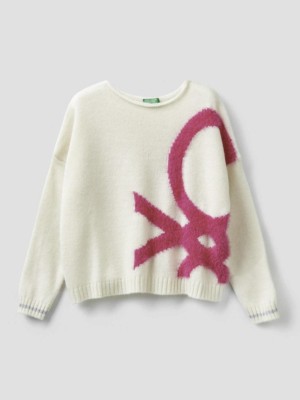 012 BENETTON Μπλούζα με μάξι λογότυπο 1176Q1928 20A910