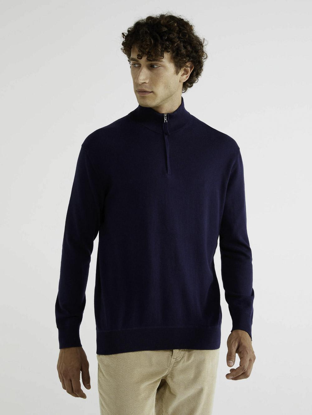 BENETTON Μπλούζα ζιβάγκο με φερμουάρ 1150K7106 20A016