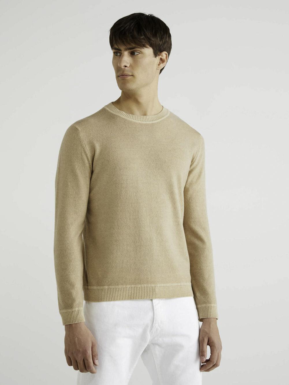 BENETTON Μπλούζα με λαιμόκοψη 1044U1M63 20A993