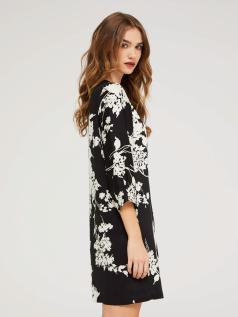 Κοντό φόρεμα σε τυπωμένο σατέν