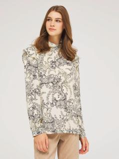Τυπωμένη σατέν μπλούζα