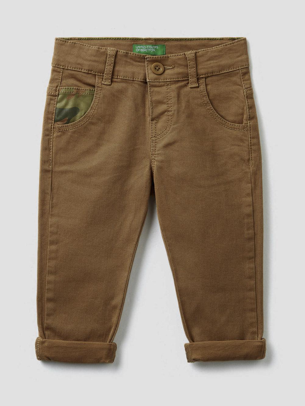 012 BENETTON Παντελόνι με σχέδια 4HM657N20 20A3K1