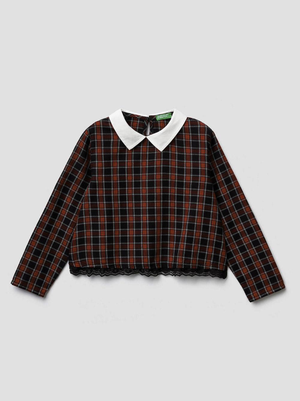 012 BENETTON Μπλούζα καρώ 5AZD5QI70 20A901